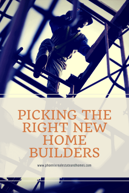 New Home Builders in Phoenix AZ climbing the scafoldings