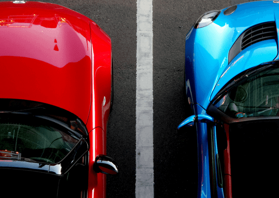 Red and blue car parking in Car Parkings in Town and Country