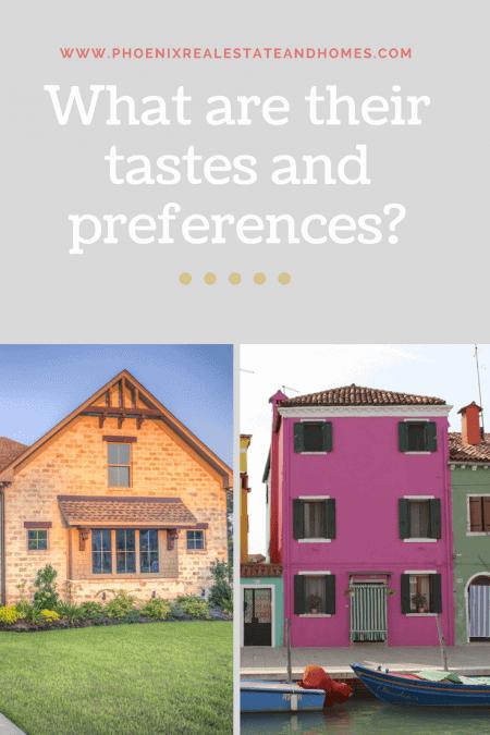 Millennial homebuyer choosing between two type of houses