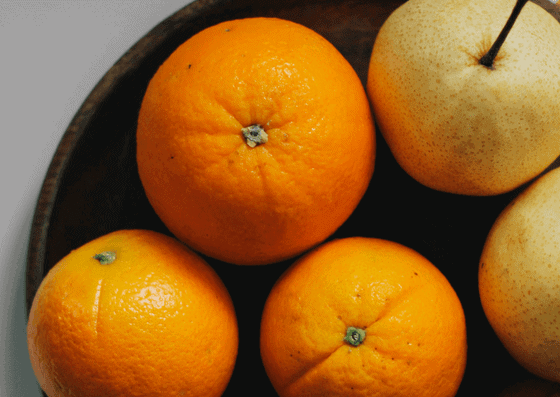 Fresh big oranges in Town and Country