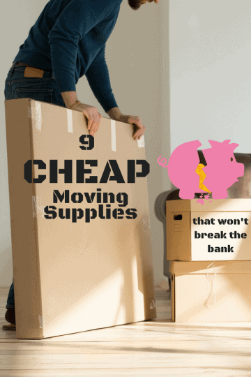 Man using cheap moving supplies