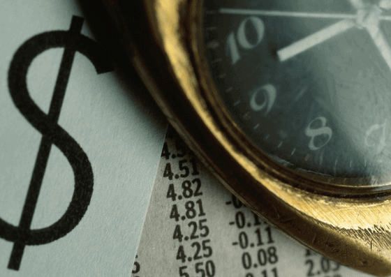 Clock and dollar sign side by side by paying half of your loan for your home equity loan