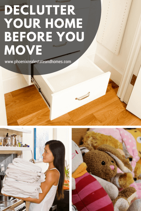 Clean wardrobe, getting rid of old blankets and donate old toys to declutter your home