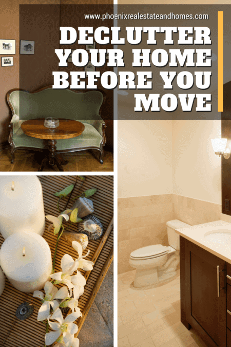 Clean Bathroom, old furniture and candles to declutter your home