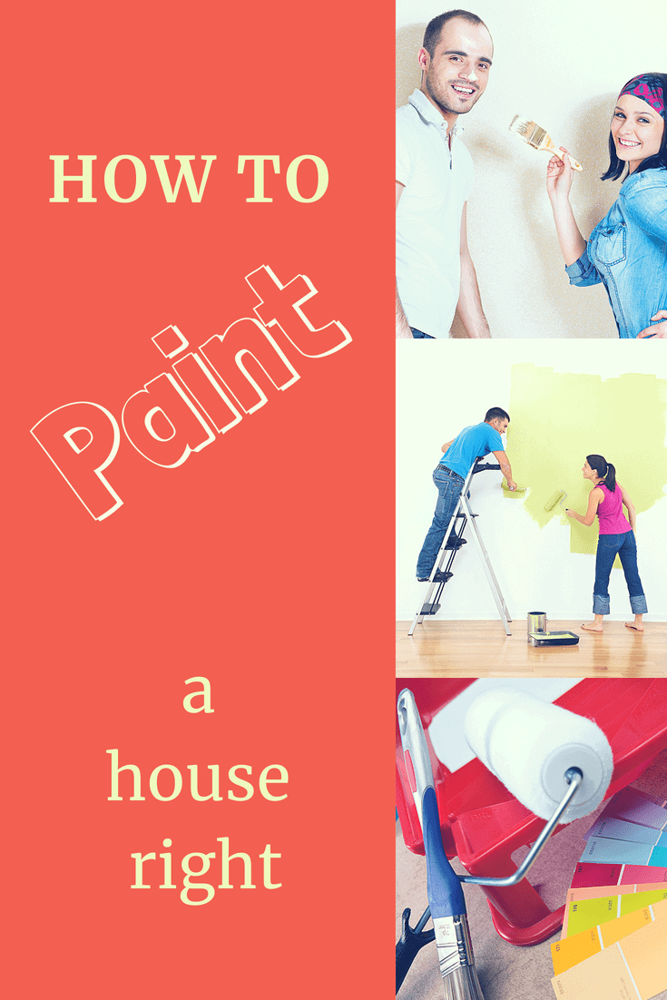 scenes of people painting their home