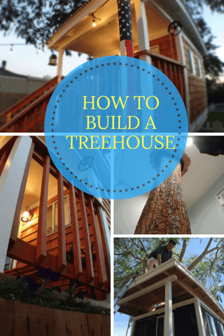 4 photos of how to build a treehouse. This treehouse is in the Windsor district of Central Phoenix.