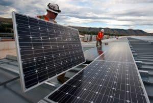 Work installing Solar Panel for Green Energy