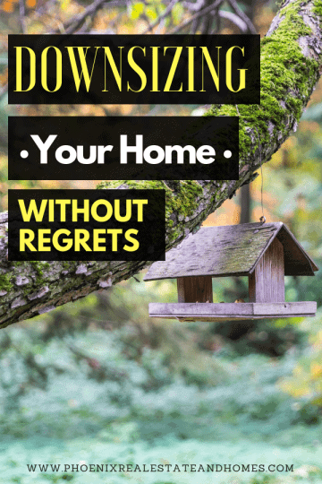 A small house under the tree after reading Downsizing Your home without regret
