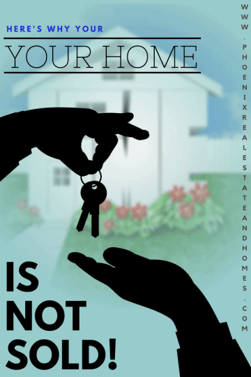 A hand is giving the key to other hand after a home is not sold