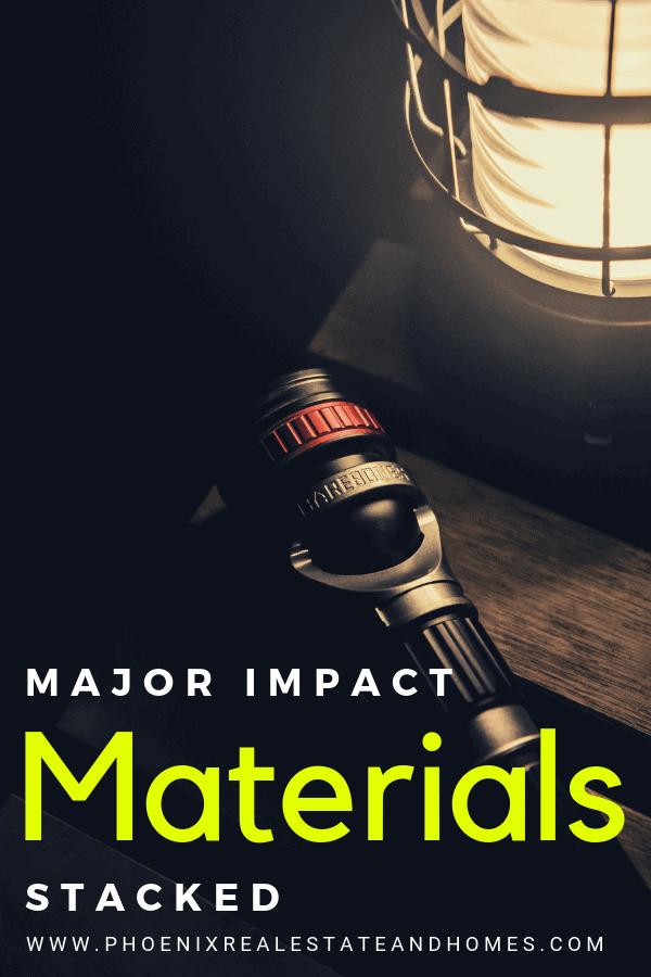 Major Impact Materials Stacked at home