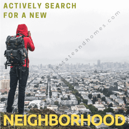 A woman is actively searching for neighborhood after reading the relocation assistance tips