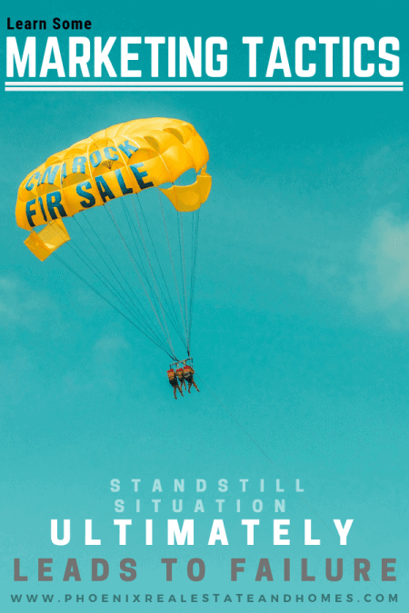 a man is having a parasailing as part of his selling tactics