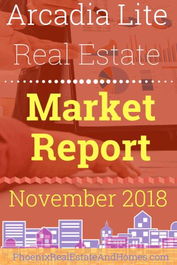 Arcadia Lite Real Estate Market Report - November 2018